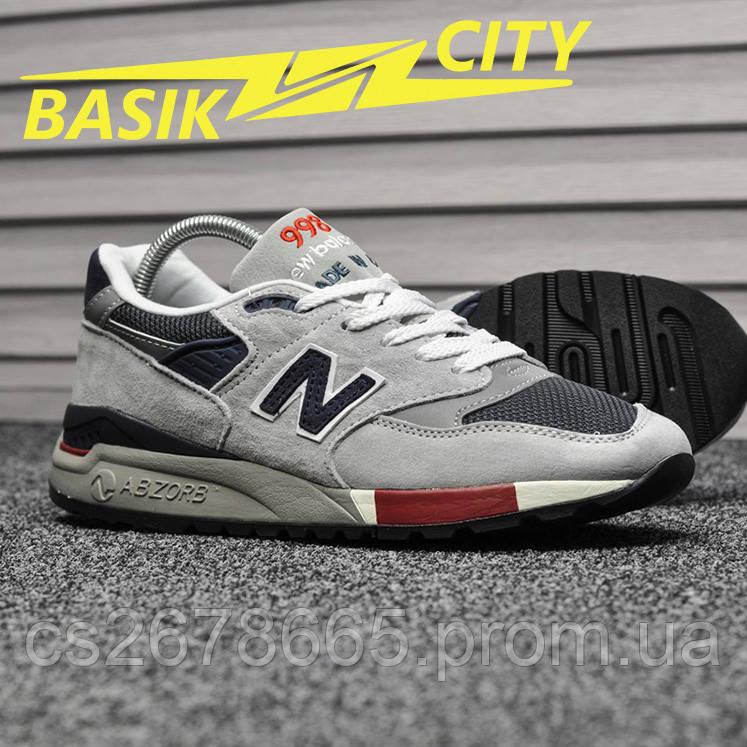 Мужские кроссовки New Balance 998 Gray Navy Red