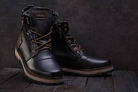 Ботинки Zangak 136 (зима, мужские, натуральная кожа, черный)