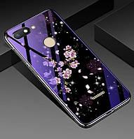 Чехол Glass-case для Xiaomi Redmi 6 бампер оригинальный Sakura, фото 1