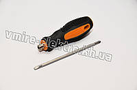 Отвертка двухсторонняя резина 150 мм PH0 SL3 , фото 1