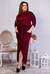 Женское стильное черное платье 8209