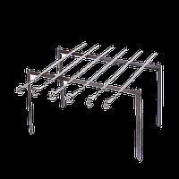 Мангал подставка с шампурами длинной 670мм, нержавейка
