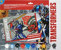 Раскраски по номерам Kite 10 цветов 39х29 Transformers