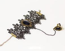Викторианский браслет с кольцом, фото 2