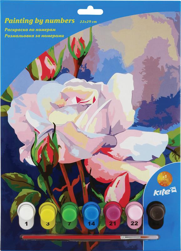 Раскраски по номерам Kite 7 цветов 22х29 розы