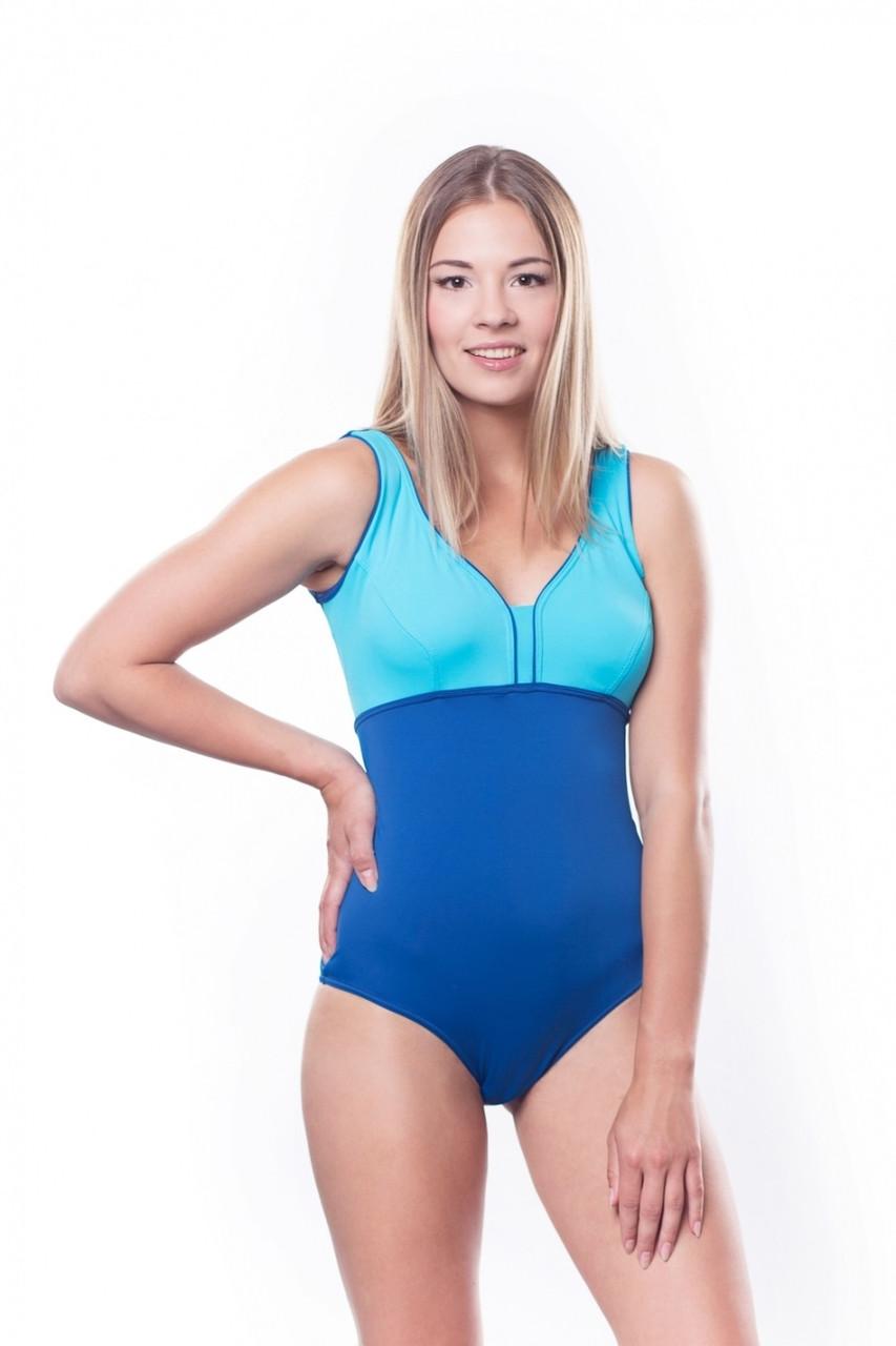 Женский купальник Shepa 036 L Голубой с синим (sh0129)