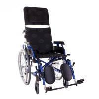 Многофункциональная алюминиевая инвалидная коляска OSD MILLENIUM Modern Recliner (REP - синяя)