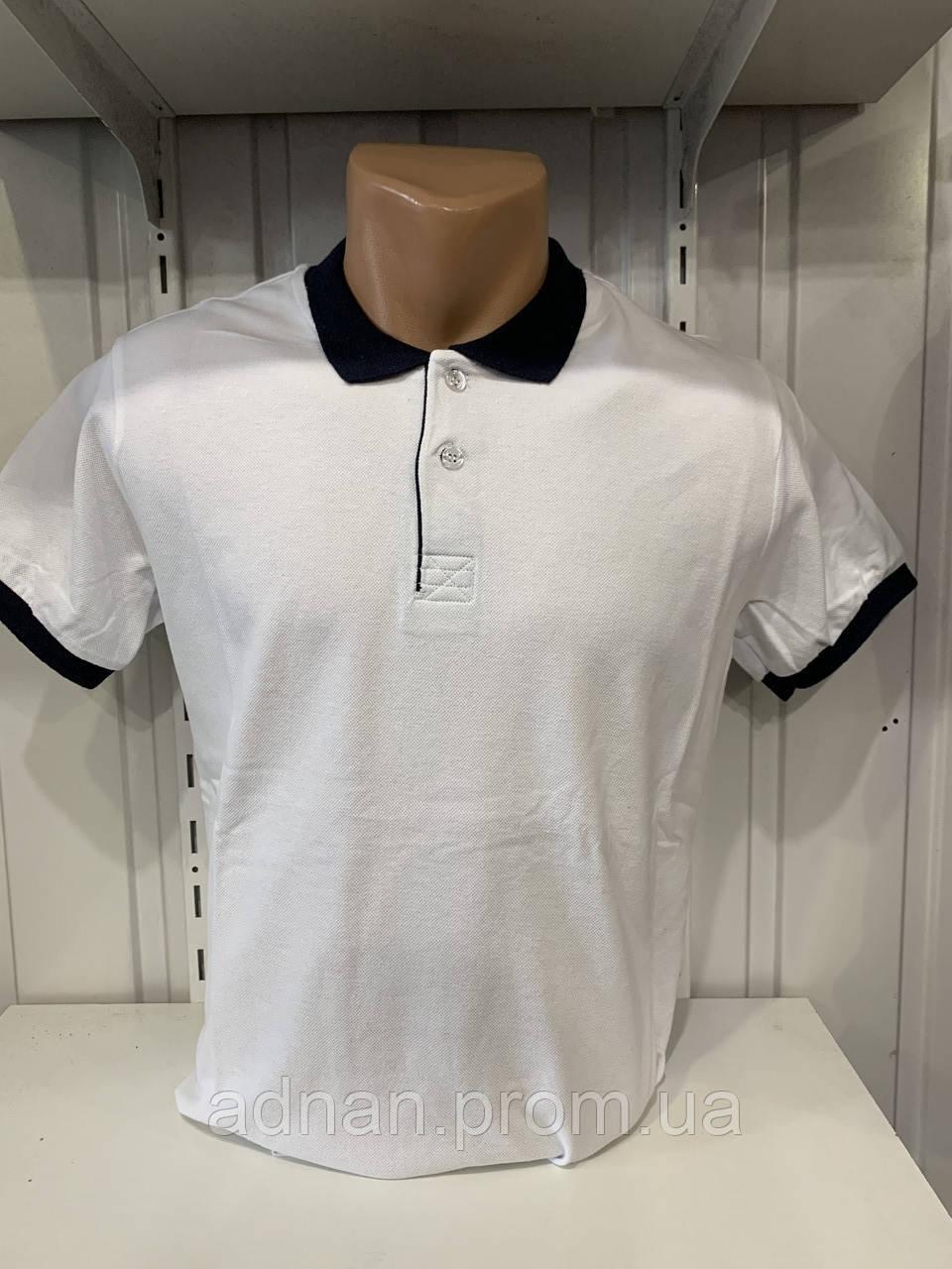 Футболка чоловіча COLORHAKAN поло комбінована, розміри M - 3XL,002 \ купити футболку чоловічу оптом