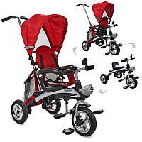 Колясочный-велосипед трансформер: велосипед, беговел, коляска, M 3212A-5