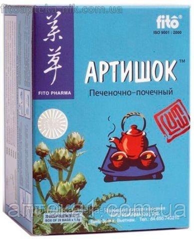 """Препарат для печени """"Фиточай Артишок"""" (Фито Фарм, Вьетнам 20пакетиков)-натуральный препарат для лечения желчн"""