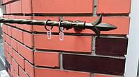 Карниз металлический одинарный КМК Лилия антик-1,6м