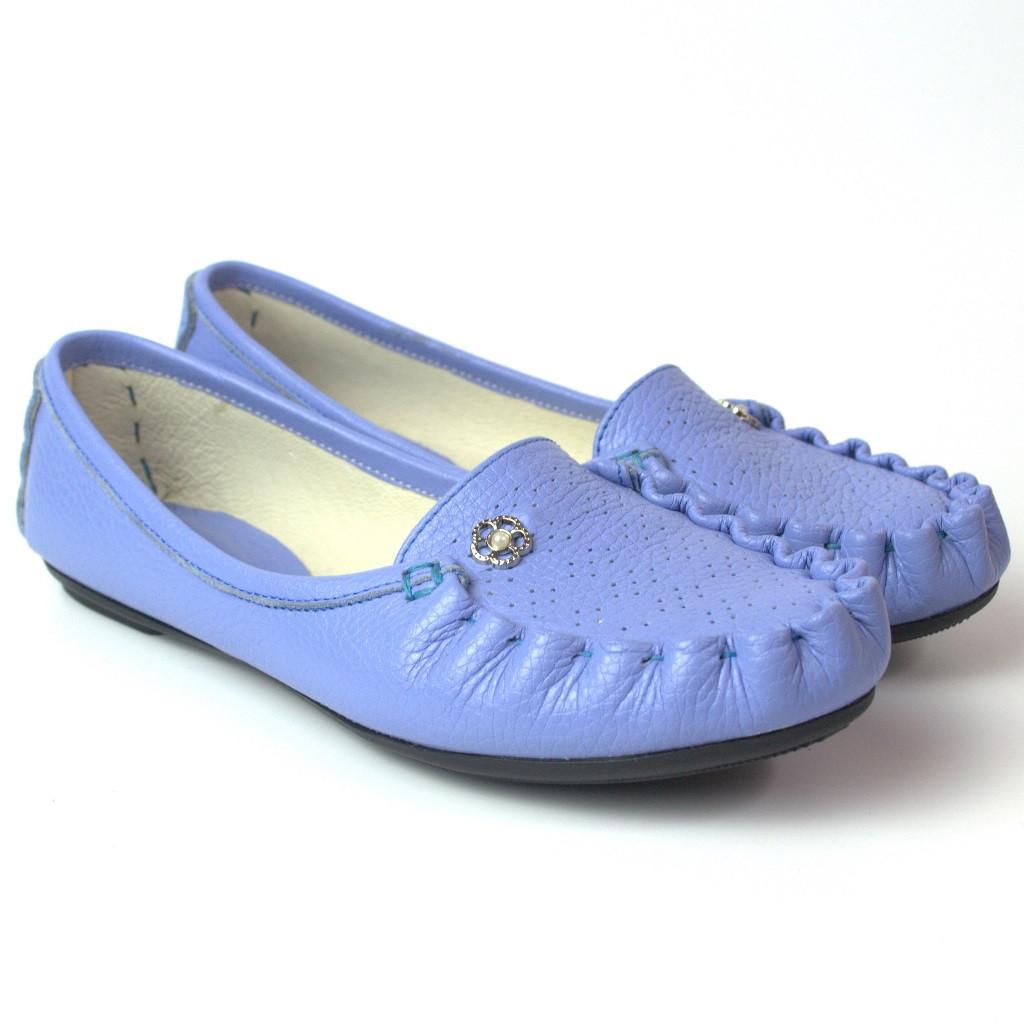 Мокасины женская обувь больших размеров Tesoruccio Violet Leather by Rosso Avangard BS фиолет кожа