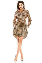 Платье- рубашка 274  оранжевая размер 50