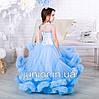 """Нарядное бальное платье для девочки """"Облако"""" нежно-голубое, фото 3"""