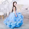 """Нарядное бальное платье для девочки """"Облако"""" нежно-голубое, фото 4"""