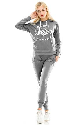 Женский спортивный костюм 429 темно-серый, фото 2