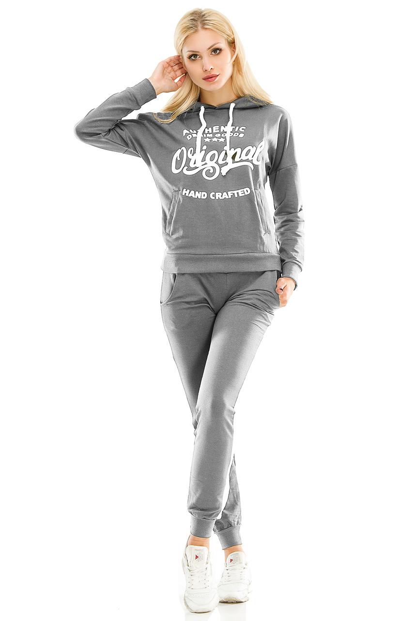 Женский спортивный костюм 429 темно-серый