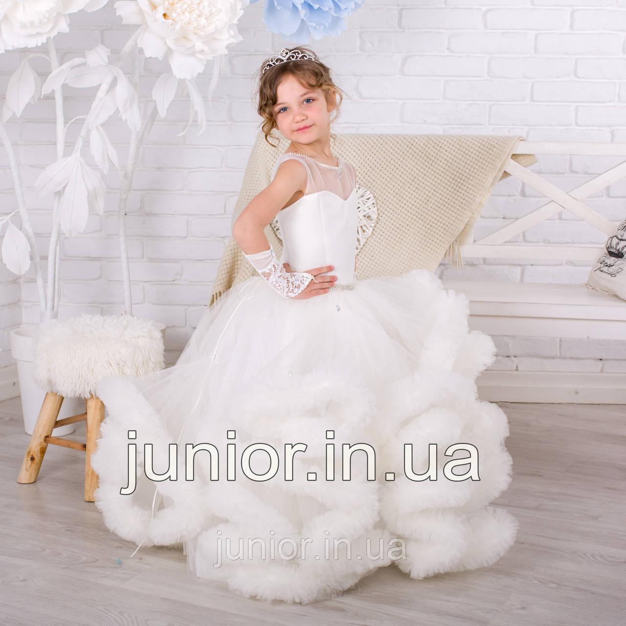 bdd40297c8a Нарядное бальное платье для девочки