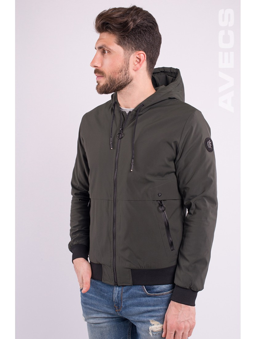 Ветровка куртка мужская хаки Avecs AV-70233 Khaki Размеры M/46 XL/50 2XL/52