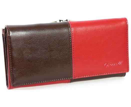77b371c19612 Кожаный Женский Кошелек Cossroll A146-9112-1 красно-коричневый, фото 2