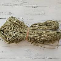 Рафия соломка для вязания шляп, сумок оливка