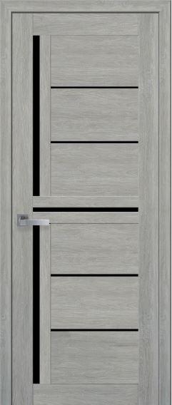 Двери межкомнатные c черным стеклом DIANA