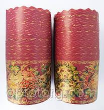 Бумажные формы для выпечки пасхи 115*155 Жостово