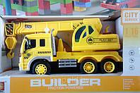 Кран строительный Builder 1:16 инерционная машинка 310Е свет звук