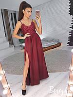 Элегантное платье с разрезом, разные цвета, фото 1