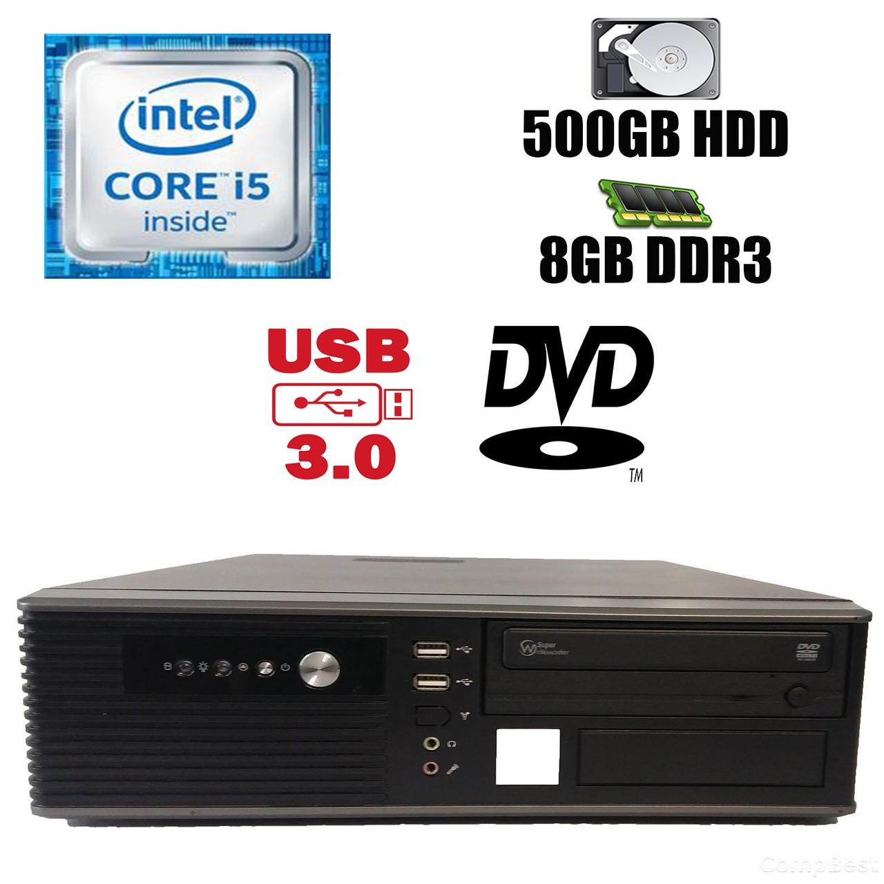 MSI SFF / Intel Core i5-2300 (4 ядра по 2.8-3.1GHz) / 8 GB DDR3 / 500 GB HDD / DVD привод / USB 3.0, SATA 3.0, PCI Express 3.0, i5-2300, 8, 500 HDD