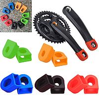 Защита / насадки / колпачки силиконовые для вело / велосипедных шатунов SOUL TRAVEL