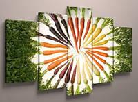 Фотокартина модульная для кухни морковка 125х70