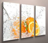 Картина модульная для кухни апельсины 90х60