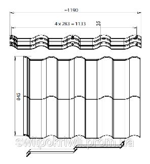 Модульная металлочерепица Ferrara, фото 2