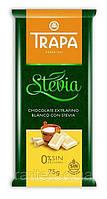 Шоколад белый  без сахара и без глютена Trapa Stevia  75г Испания