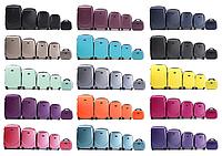 Комплект пластиковых чемоданов пятерка на 4-х колесах, фото 1