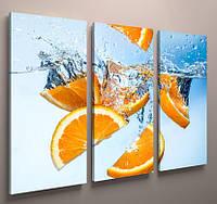 Фотокартина модульная для кухни апельсины 90х60