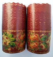Бумажные формы для выпечки пасхи 115*180 Жостово