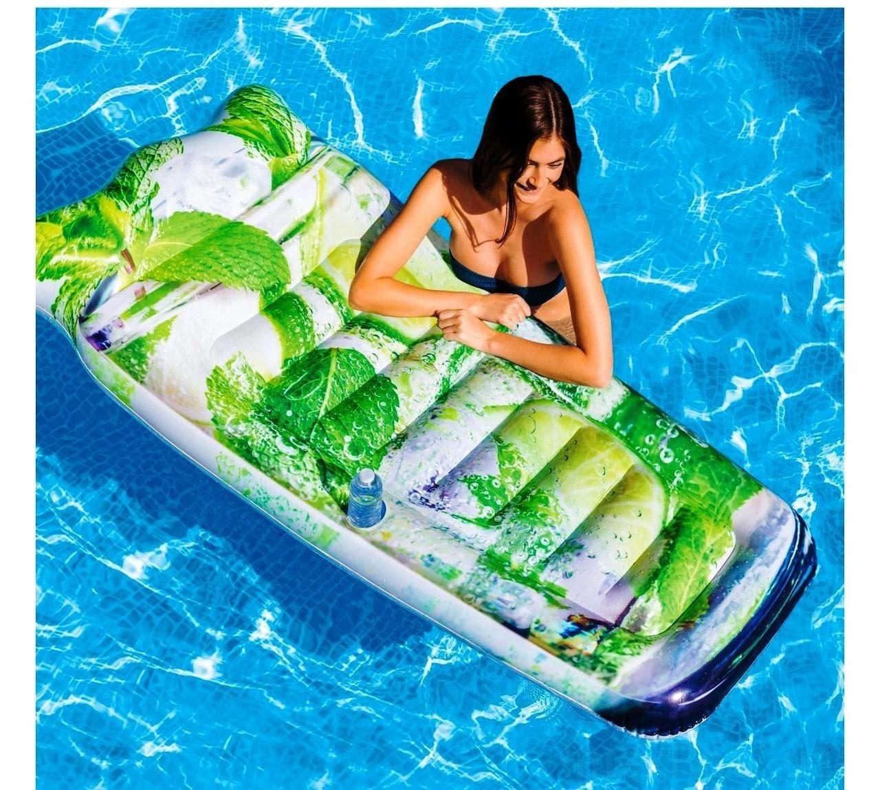 Пляжный надувной матрас - плот Intex 58778 Мохито, 178 х 91 см