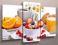 Картина модульная для кухни фрукты 90х70