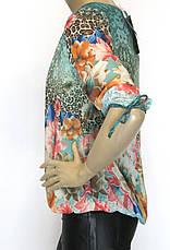 Нарядна шифонова блузка  на резинці знизу, фото 3