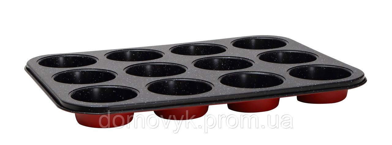Форма для маффинов на 12 шт 35х26.5 см Bergner Bake Right (BG-5460)
