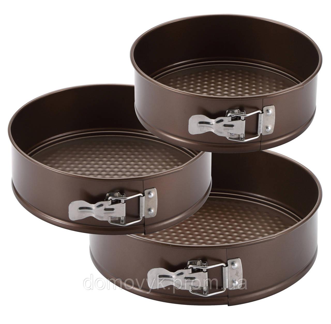 Форма для выпечки 3 пр. - Ø24 - Ø26 - Ø28 см Bergner Bake Right (BG-5537)