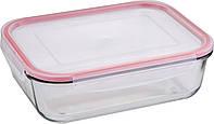 Пищевой контейнер прямоугольный 2000 мл Bergner Walking Pleasure (BG-5839-RD)