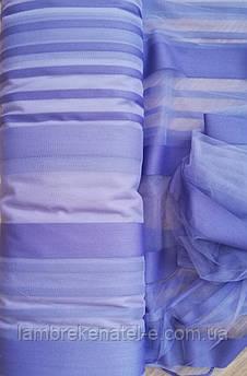 Тюль фатин полоса фиолетовая розница