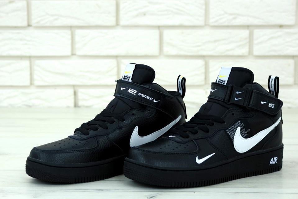 size 40 ddf43 36d1c Кроссовки мужские Nike Air Force 1 Mid 07 L.V.8 Utility Pack BLACK, Найк Аир
