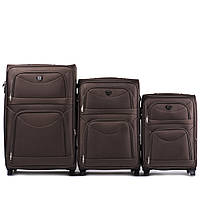 Комплект тканевых чемоданов тройка на 4-х колесах, фото 1