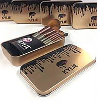 Набор кистей для макияжа Kylie в контейнере кисточки 7 шт Кайли