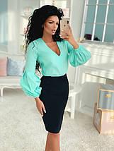 """Женская блуза """"Sveen"""" с декольте и длинным рукавом (5 цветов), фото 2"""