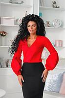 """Женская блуза """"Sveen"""" с декольте и длинным рукавом (5 цветов)"""